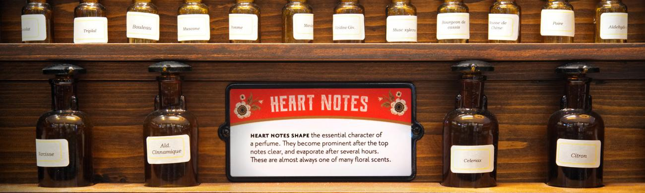 Heart note bottles